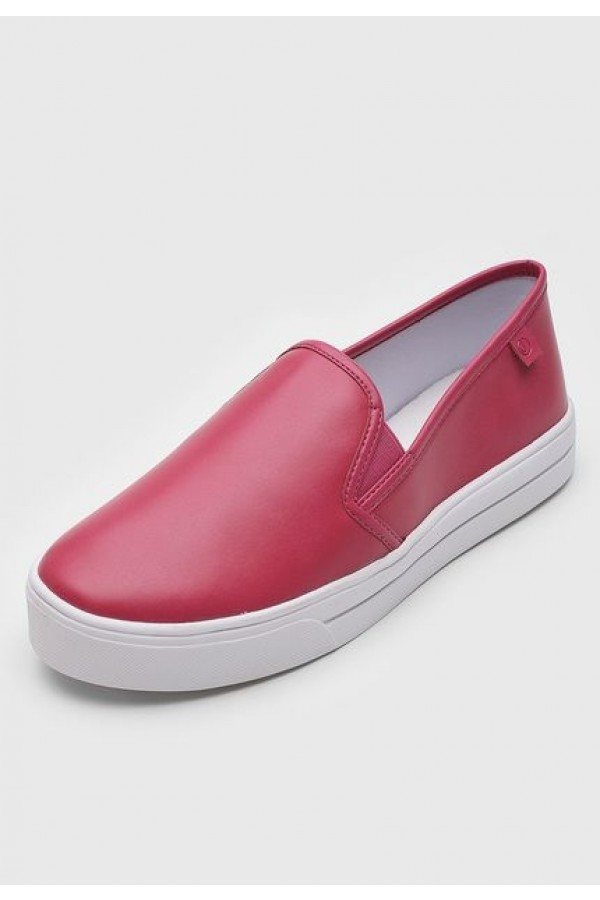 Tenis Dumond Slip On Rosa Framboesa